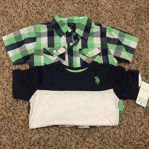 U. S. Polo assn. toddler boys shirt set